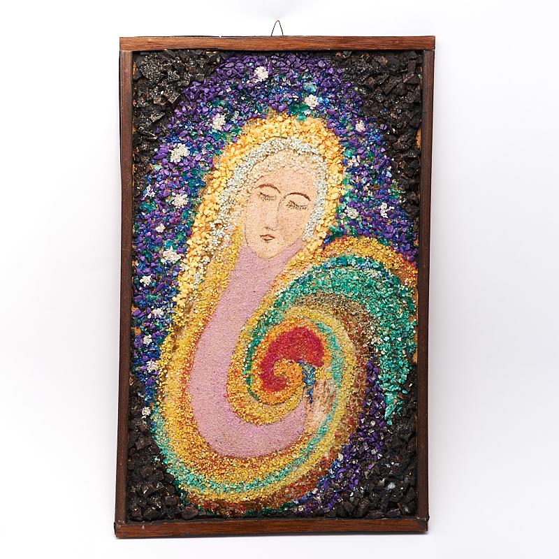 """Картина из натуральных камней """"Баюкающая Галактику"""" 44х28 см"""