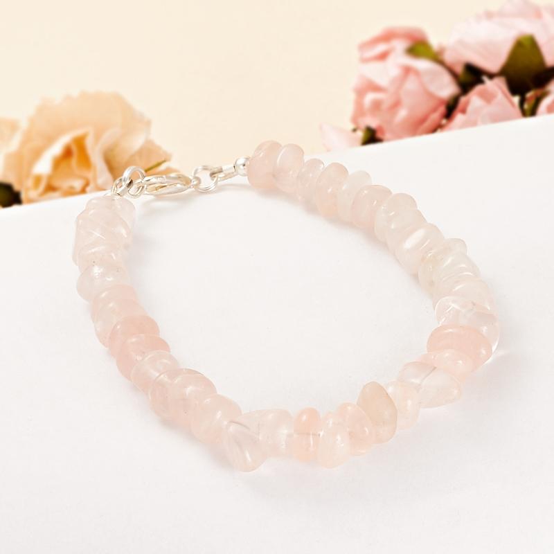 Браслет розовый кварц  16 cм