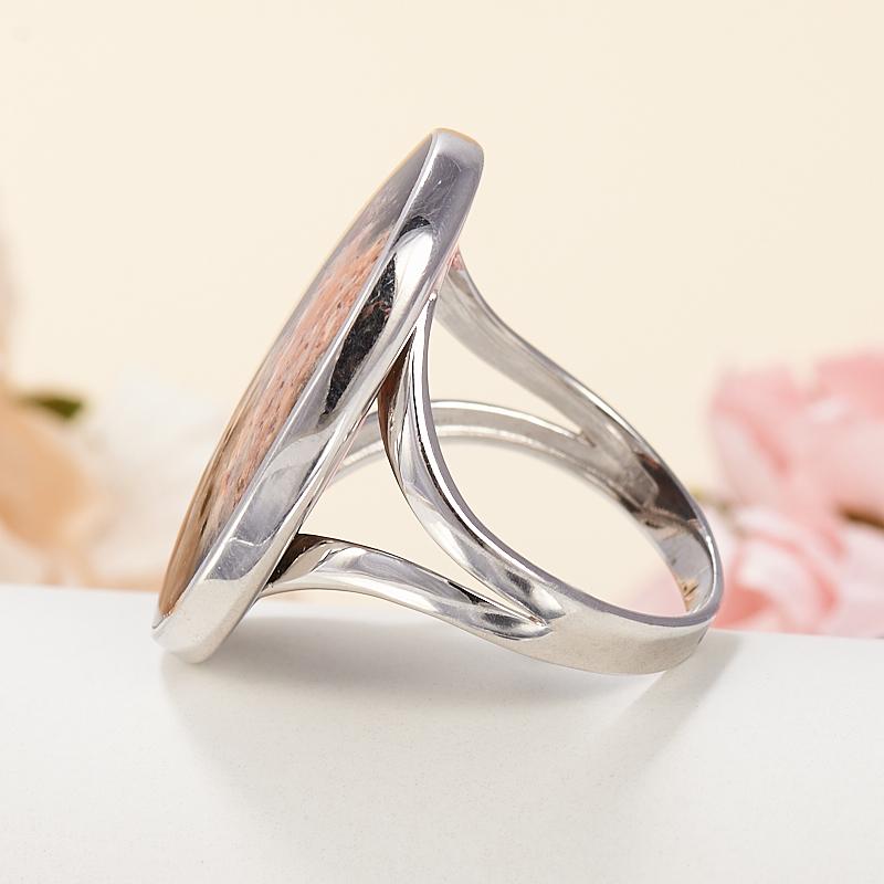 Кольцо яшма пейзажная  (серебро 925 пр.) размер 18