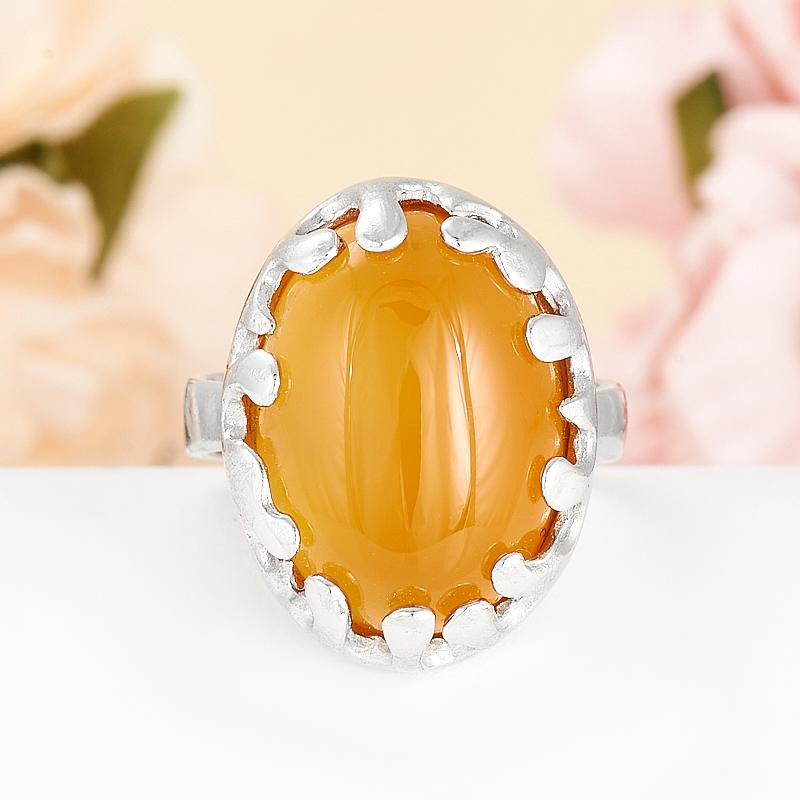 Кольцо сердолик  (серебро 925 пр.) размер 16,5