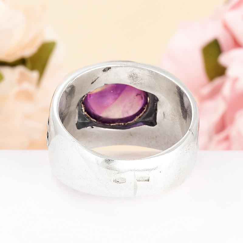 [del] Кольцо аметист Бразилия (серебро 925 пр.) размер 18