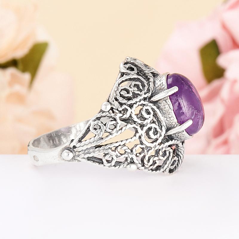 [del] Кольцо аметист Бразилия (серебро 925 пр.) размер 24