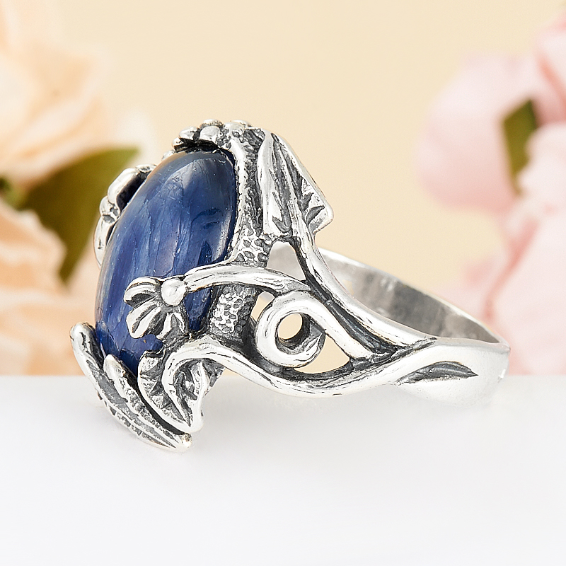 [del] Кольцо кианит синий Бразилия (серебро 925 пр.) размер 14