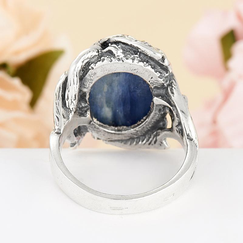 [del] Кольцо кианит синий Бразилия (серебро 925 пр.) размер 14,5