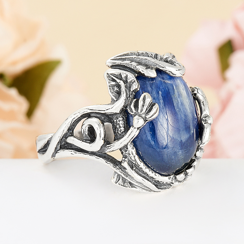[del] Кольцо кианит синий Бразилия (серебро 925 пр.) размер 25