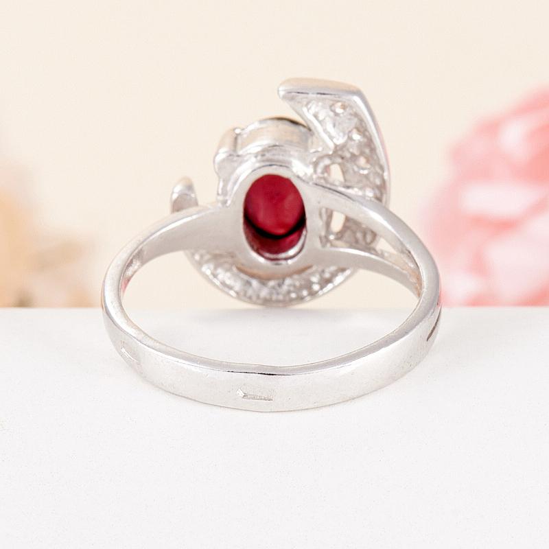 [del] Кольцо гранат альмандин Индия (серебро 925 пр.) размер 14