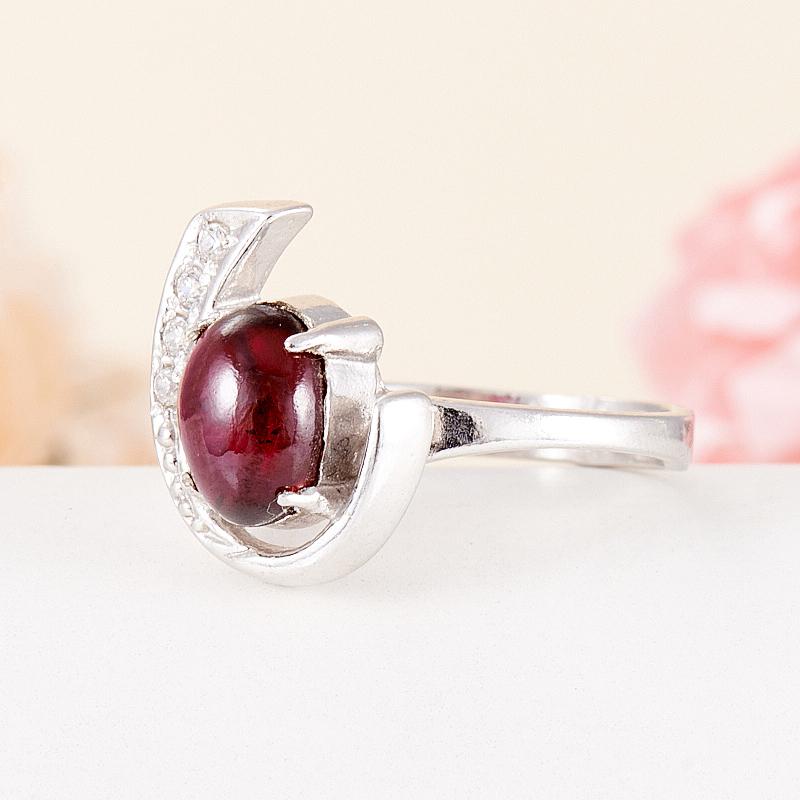 [del] Кольцо гранат альмандин Индия (серебро 925 пр.) размер 21