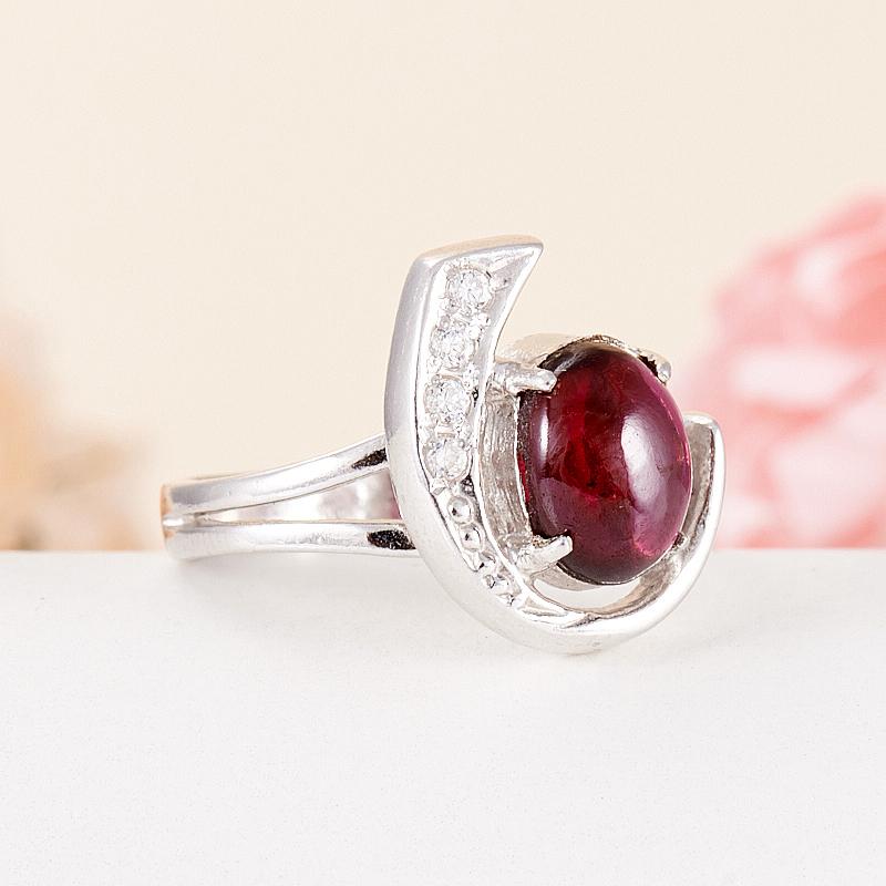 [del] Кольцо гранат альмандин Индия (серебро 925 пр.) размер 23,5