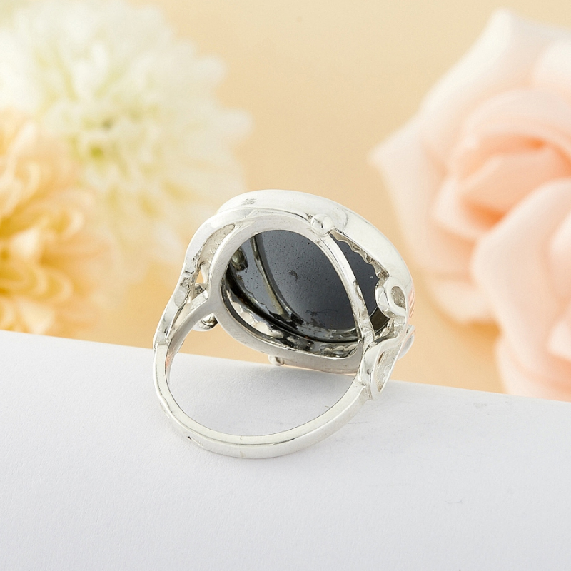 Кольцо Гематит Бразилия (серебро)  размер 18,5