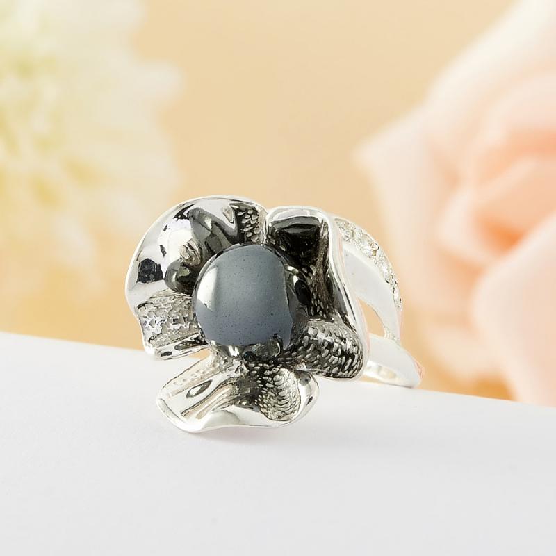 Кольцо гематит Бразилия (серебро 925 пр.) размер 19,5