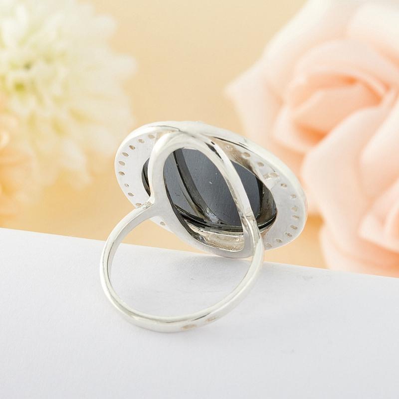 Кольцо гематит Бразилия (серебро)  размер 17,5