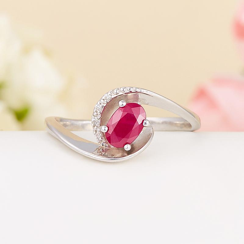 Кольцо рубин  огранка (серебро 925 пр.) размер 18,5 кольцо авантюрин зеленый серебро 925 пр размер 18