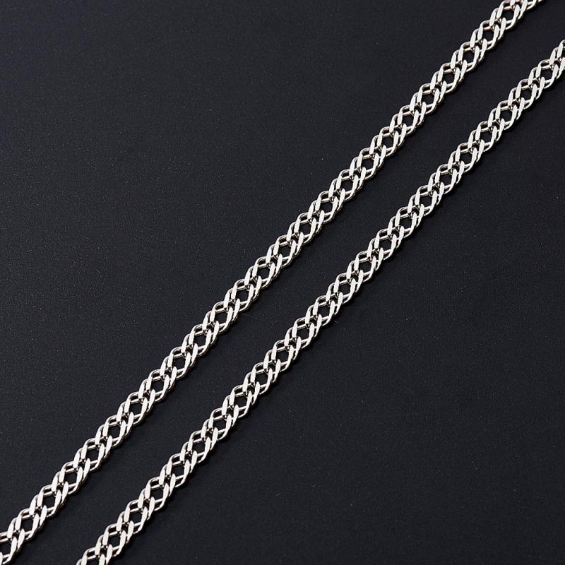 Цепь полновесная двойной ромб 60 см  (серебро 925 пр.)