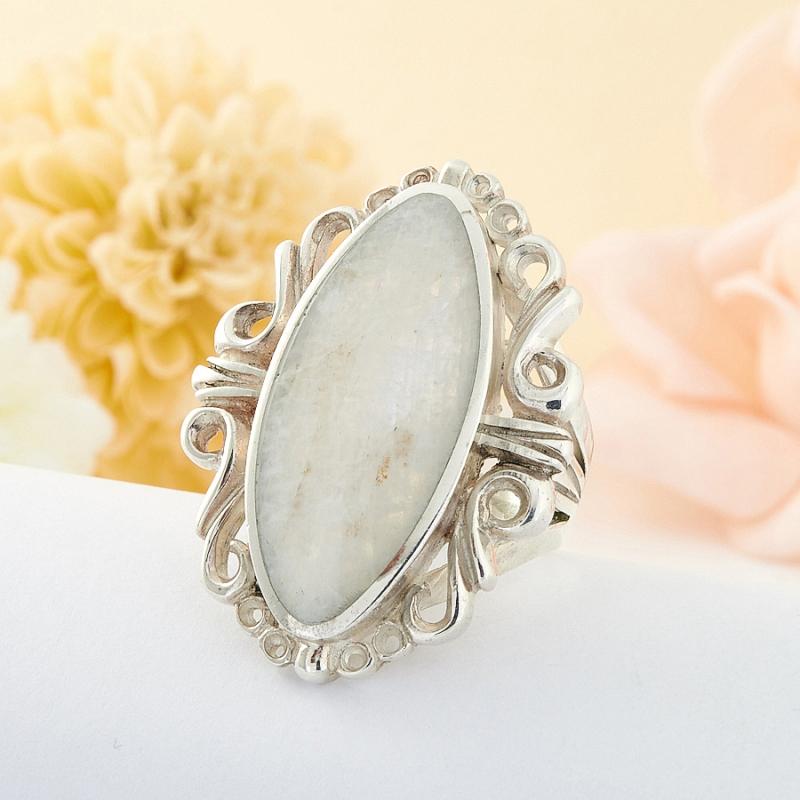 Кольцо беломорит Россия (серебро 925 пр.) размер 20
