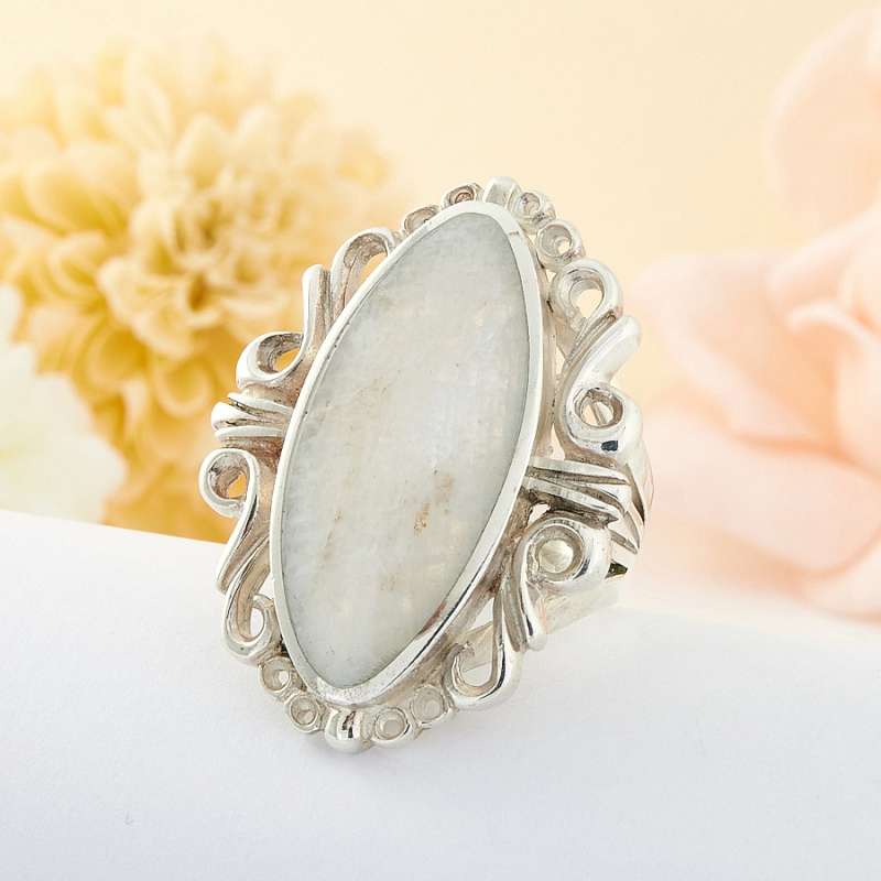 Кольцо беломорит Россия (серебро 925 пр.) размер 20,5