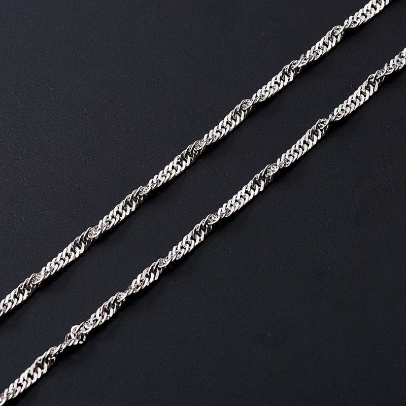Цепь полновесная сингапур 65 см  (серебро 925 пр.)