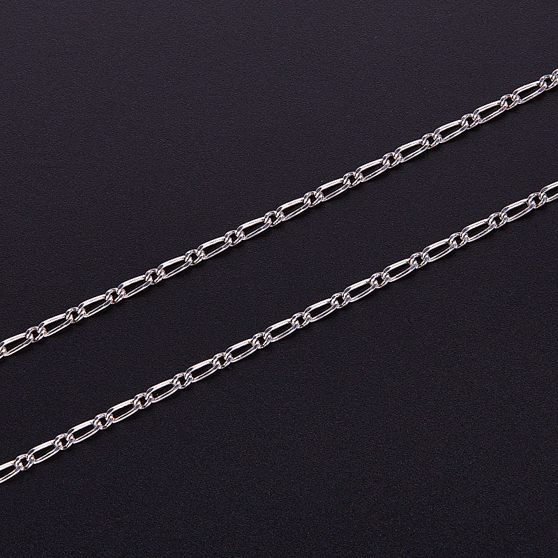 Цепь полновесная фигаро 50 см  (серебро 925 пр.)