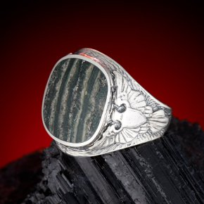 Кольцо тингуаит Россия (серебро 925 пр.) размер 19