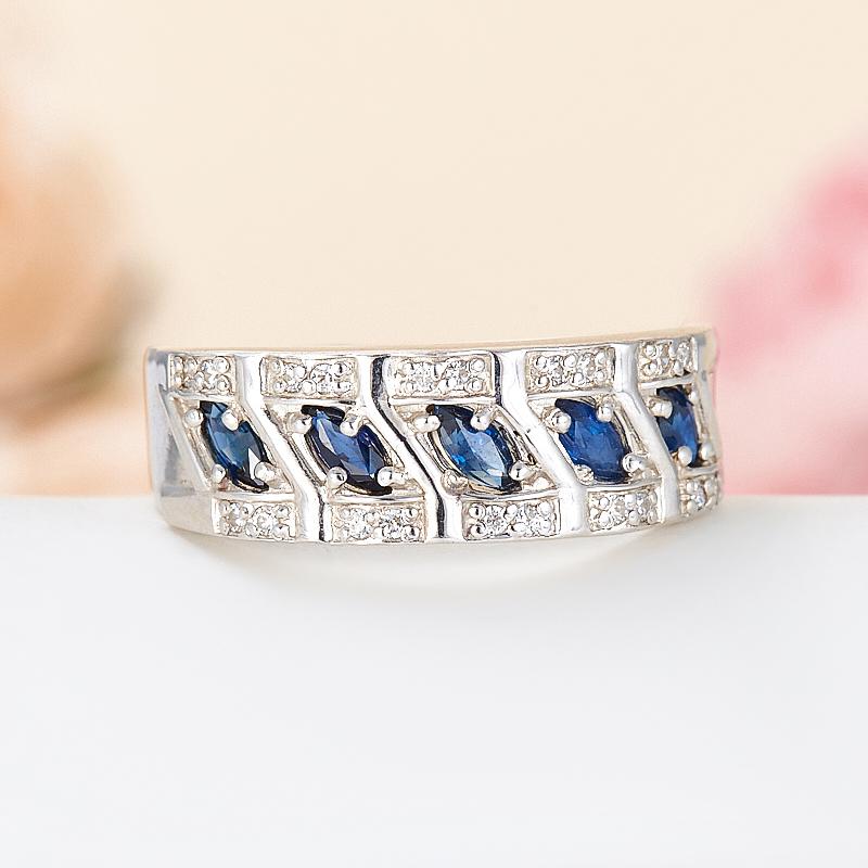 Кольцо сапфир  огранка (серебро 925 пр.) размер 17 кольцо хризопраз серебро 925 пр размер 17