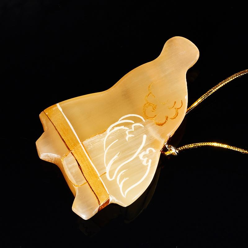 Елочная игрушка Ангел с трубой селенит  7 см