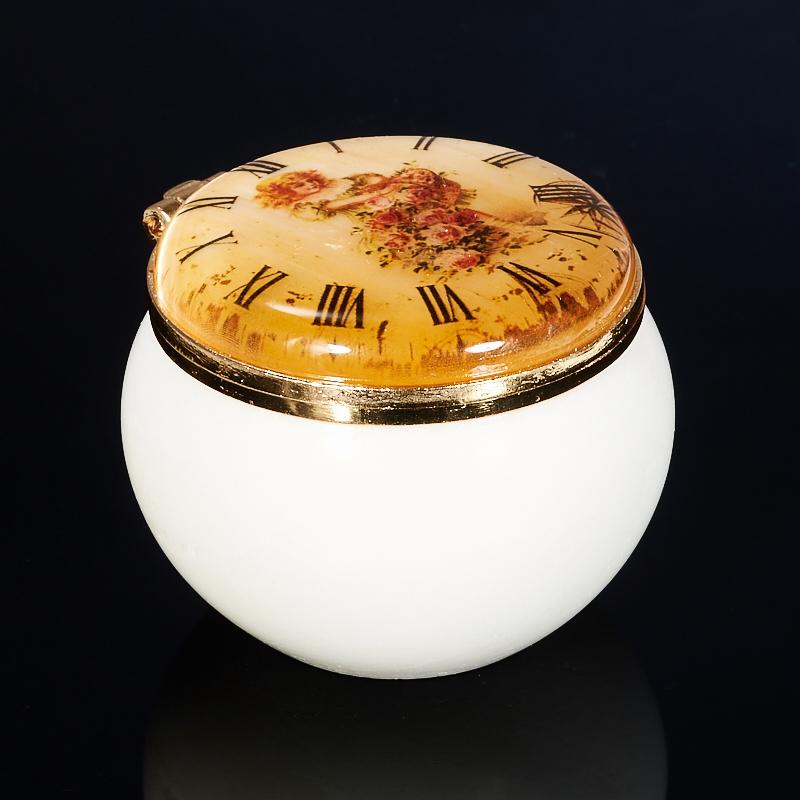Шкатулка круглая малая селенит 40х50 мм usel 34 шкатулка 34