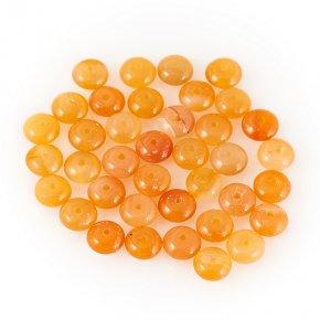 Бусина сердолик оранжевый Ботсвана сплюснутый шар 6,5 мм (1 шт)