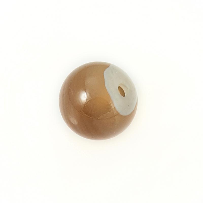 Бусина агат серый Ботсвана шарик 6-6,5 мм (1 шт)