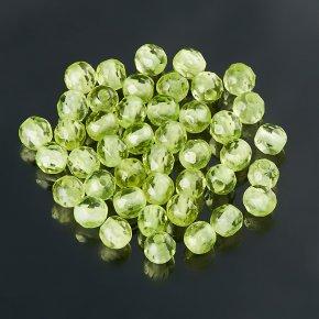 Бусина хризолит США шарик 3 мм огранка (1 шт)