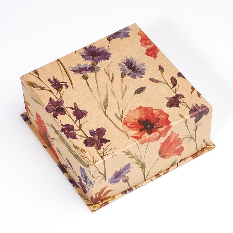 Подарочная упаковка под комплект (серьги, кольцо, кулон) 90х90х40 мм