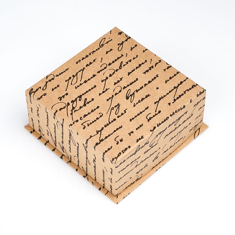 Подарочная упаковка под комплект (серьги, кольцо) 100х100х40 мм