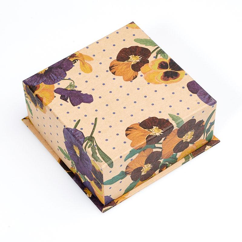 Подарочная упаковка под комплект (серьги/кольцо/кулон) 90х90х40 мм