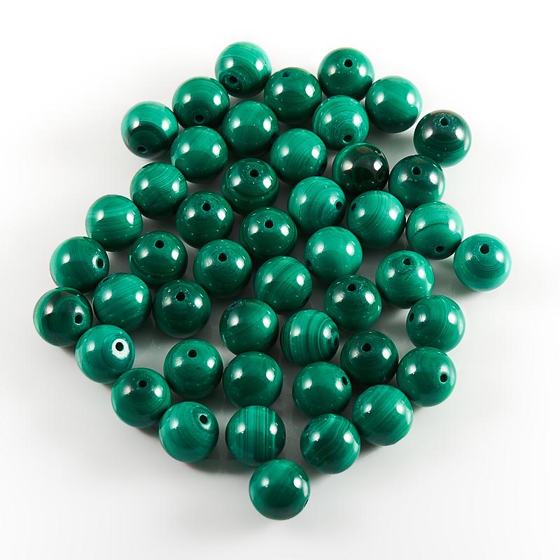 Бусина малахит шарик 8 мм (1 шт) бусина лабрадор шарик 8 мм 1 шт