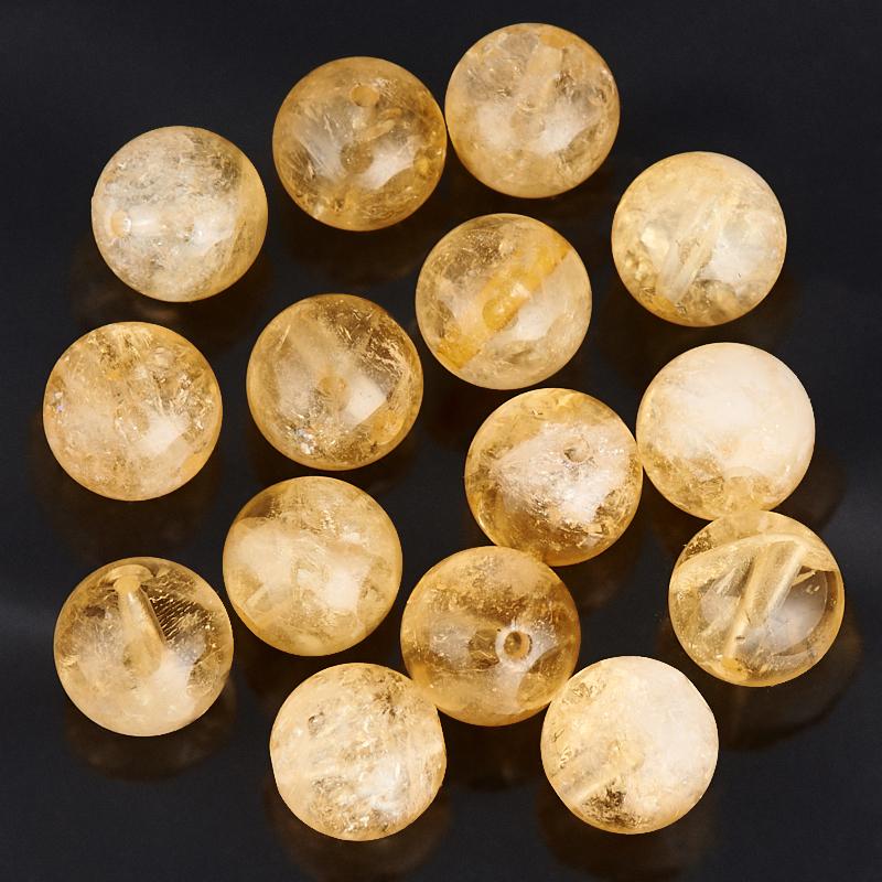 Бусина цитрин шарик 8-8,5 мм (1 шт)
