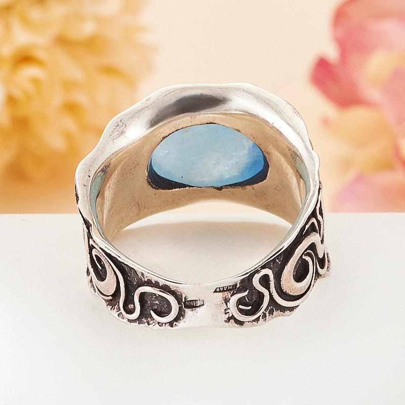[del] Кольцо аквамарин Бразилия (серебро 925 пр.) размер 19,5
