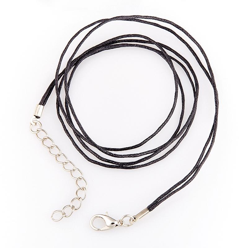 Шнурок черный 46-50 см (текстиль)