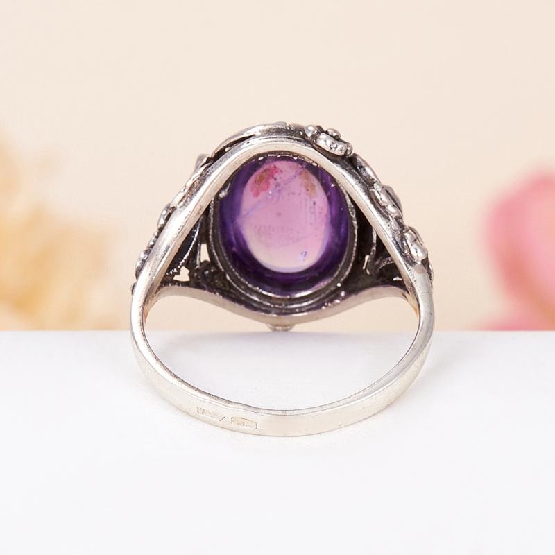 [del] Кольцо аметист Бразилия (серебро 925 пр.) размер 14,5