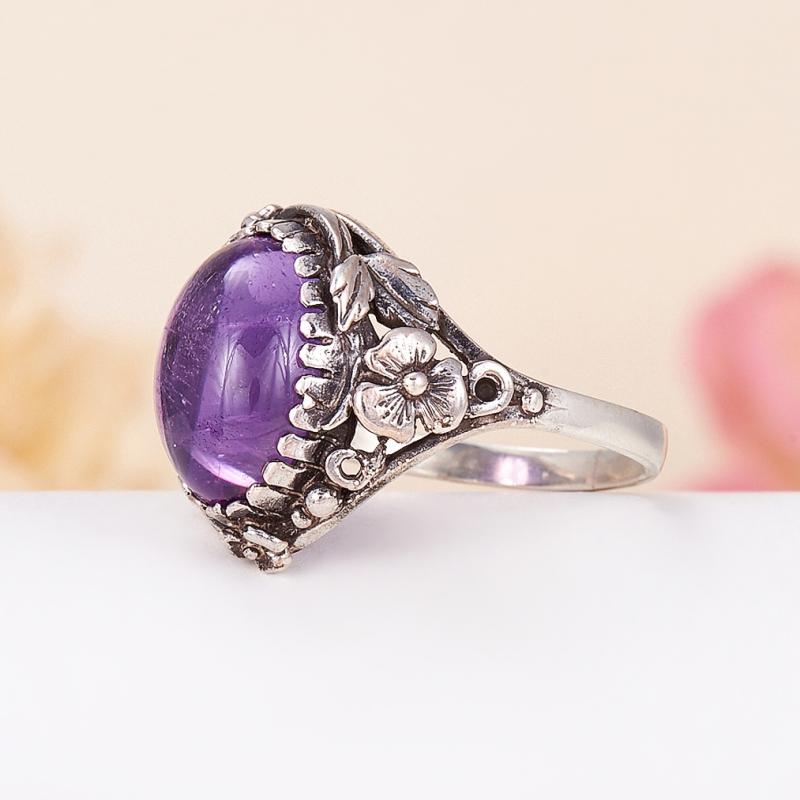 [del] Кольцо аметист Бразилия (серебро 925 пр.) размер 21