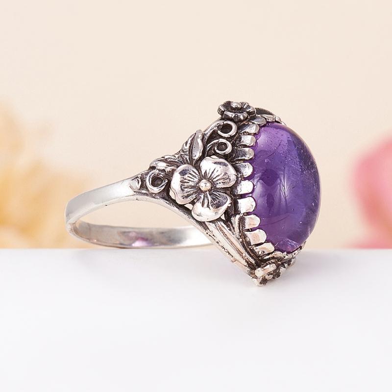 [del] Кольцо аметист Бразилия (серебро 925 пр.) размер 22,5