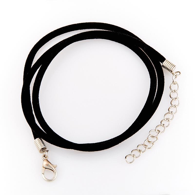Шнурок черный 46-50 см (иск. кожа)
