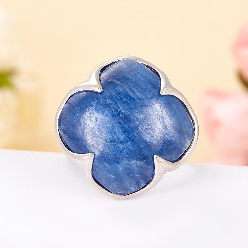 [del] Кольцо кианит синий Бразилия (серебро 925 пр.) размер 17