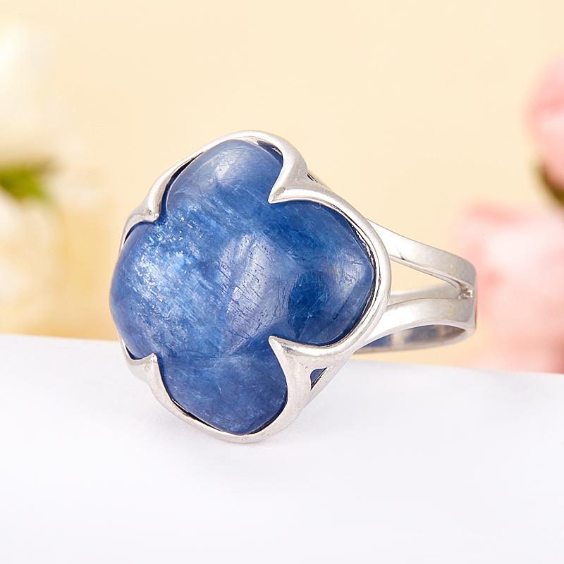 [del] Кольцо кианит синий Бразилия (серебро 925 пр.) размер 21,5