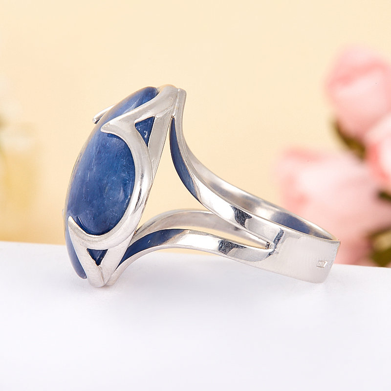 [del] Кольцо кианит синий Бразилия (серебро 925 пр.) размер 22,5