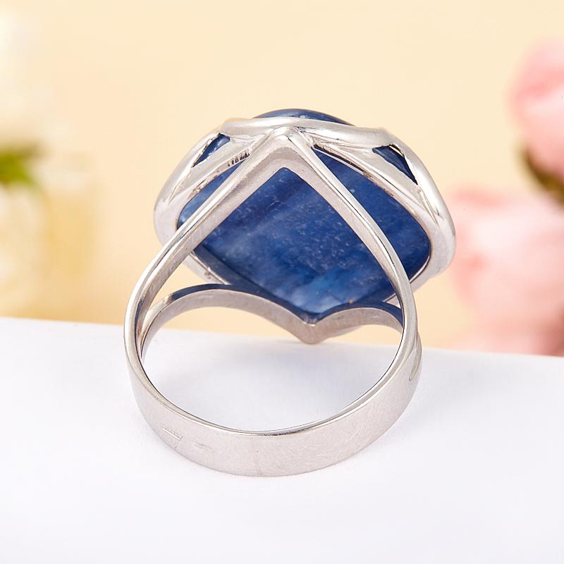 [del] Кольцо кианит синий Бразилия (серебро 925 пр.) размер 23