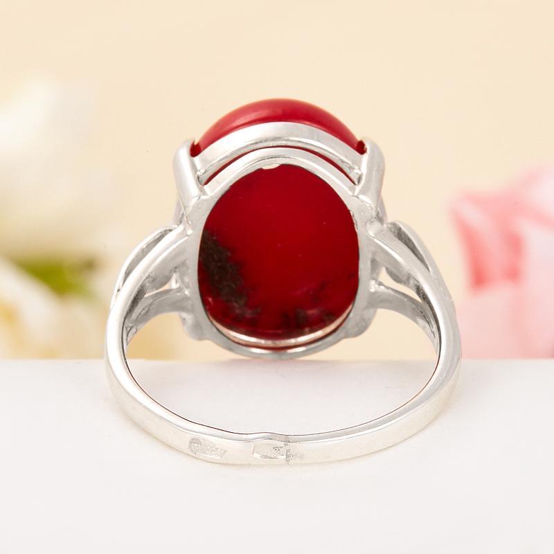 [del] Кольцо коралл красный Индонезия (серебро 925 пр.) размер 24