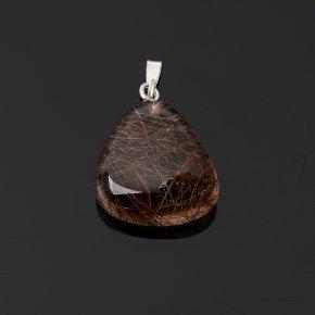Кулон рутиловый кварц Бразилия галтовка (биж. сплав) 1,5-3 см