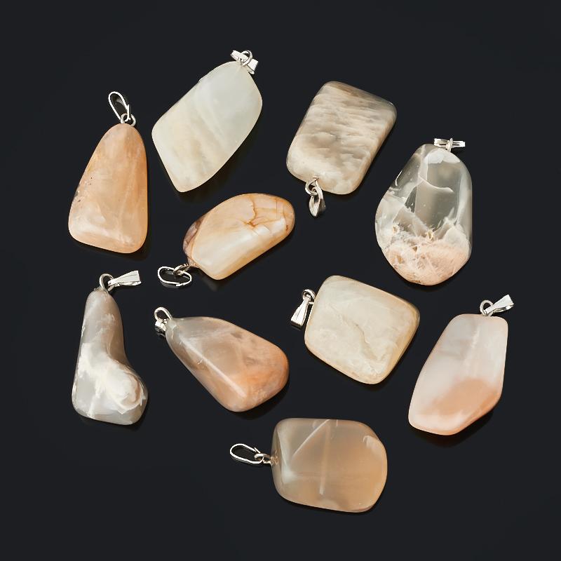 Кулон лунный камень Индия (биж. сплав) галтовка 1,5-3 см