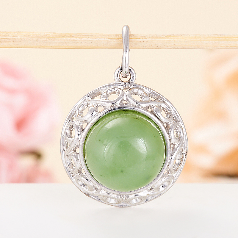 зеленый нефрит кулоны