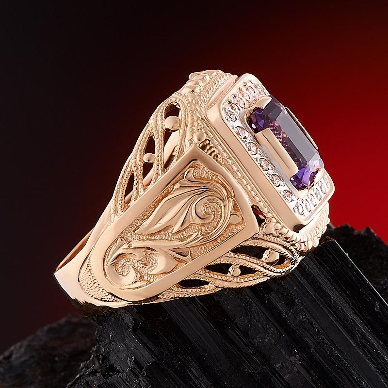 Кольцо аметист Бразилия огранка (золото 585 пр.) размер 23,5