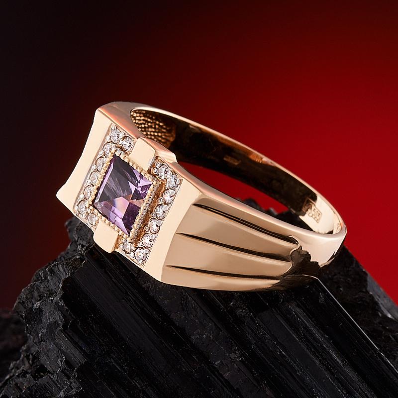 Кольцо аметист Бразилия огранка (золото 585 пр.) размер 22,5