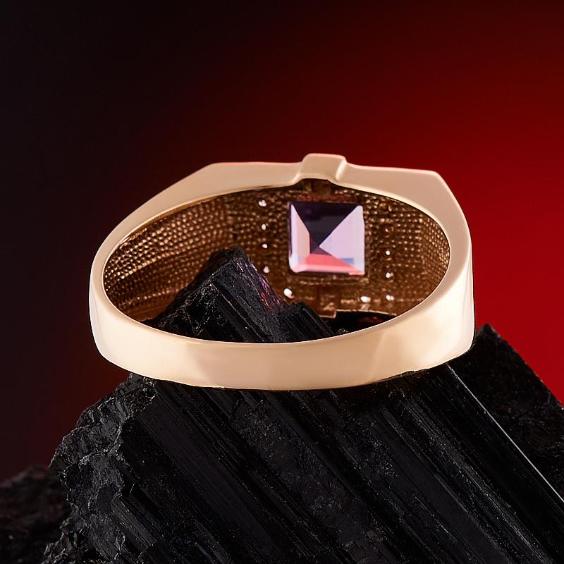 Кольцо аметист Бразилия огранка (золото 585 пр.) размер 24,5